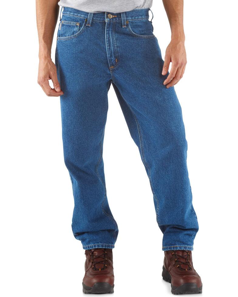 Carhartt Jeans - Dark Denim Relaxed Fit Work Jeans, Stonewash, hi-res