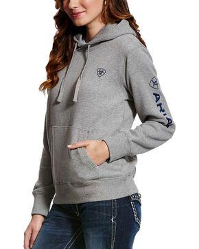 Ariat Women's Grey Tek Logo Hoodie , Grey, hi-res