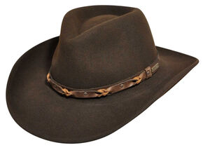 e63494c875db61 Wind River by Bailey Palisade Brown Western Hat, Brown, hi-res