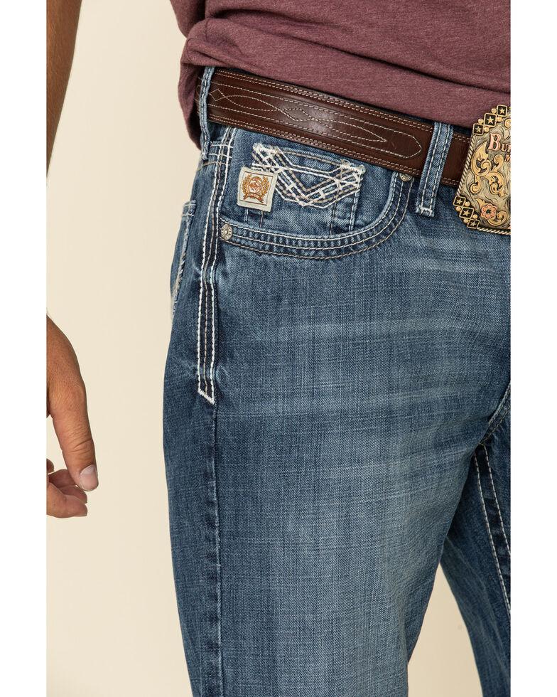 Cinch Men's Ian Performance Denim Dark Stretch Slim Bootcut Jeans , Indigo, hi-res