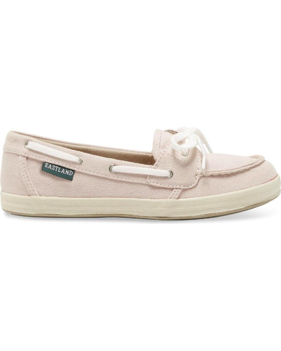 Eastland Women's Blush Canvas Skip Boat Shoes , Pink, hi-res