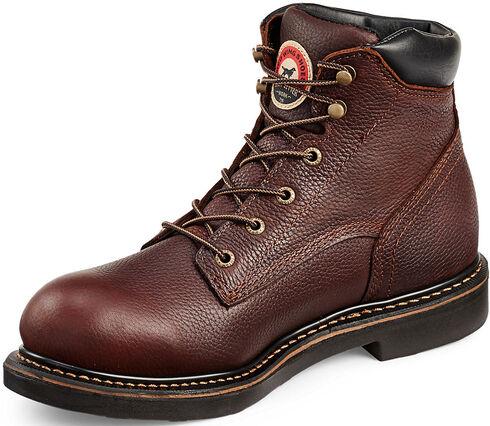Red Wing Irish Setter Farmington Work Boots - Round Toe  , Brown, hi-res