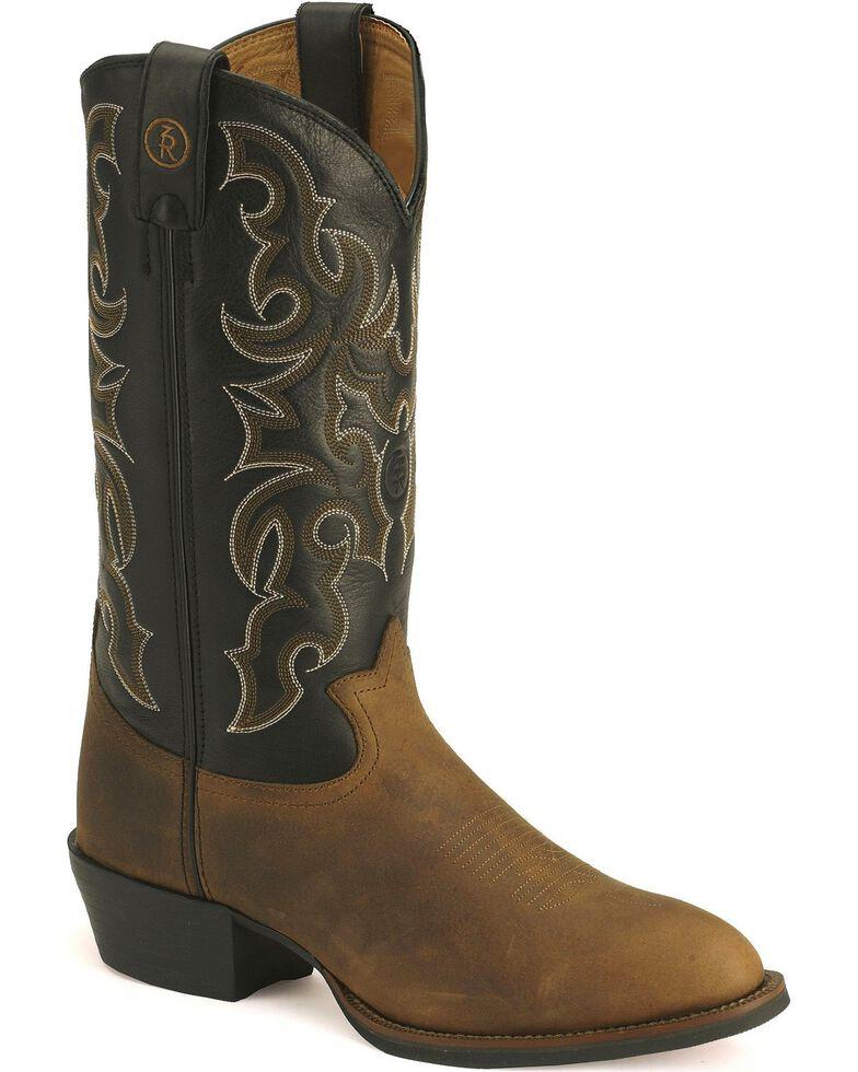 Tony Lama Men's 3R Cowboy Boots - Medium Toe, Walnut, hi-res