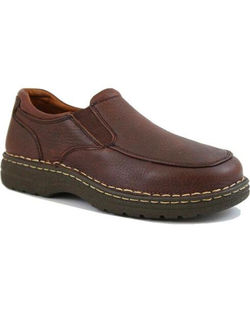 Ad Tec Men's Comfort Gold Casual Shoes - Round Toe, Brown, hi-res