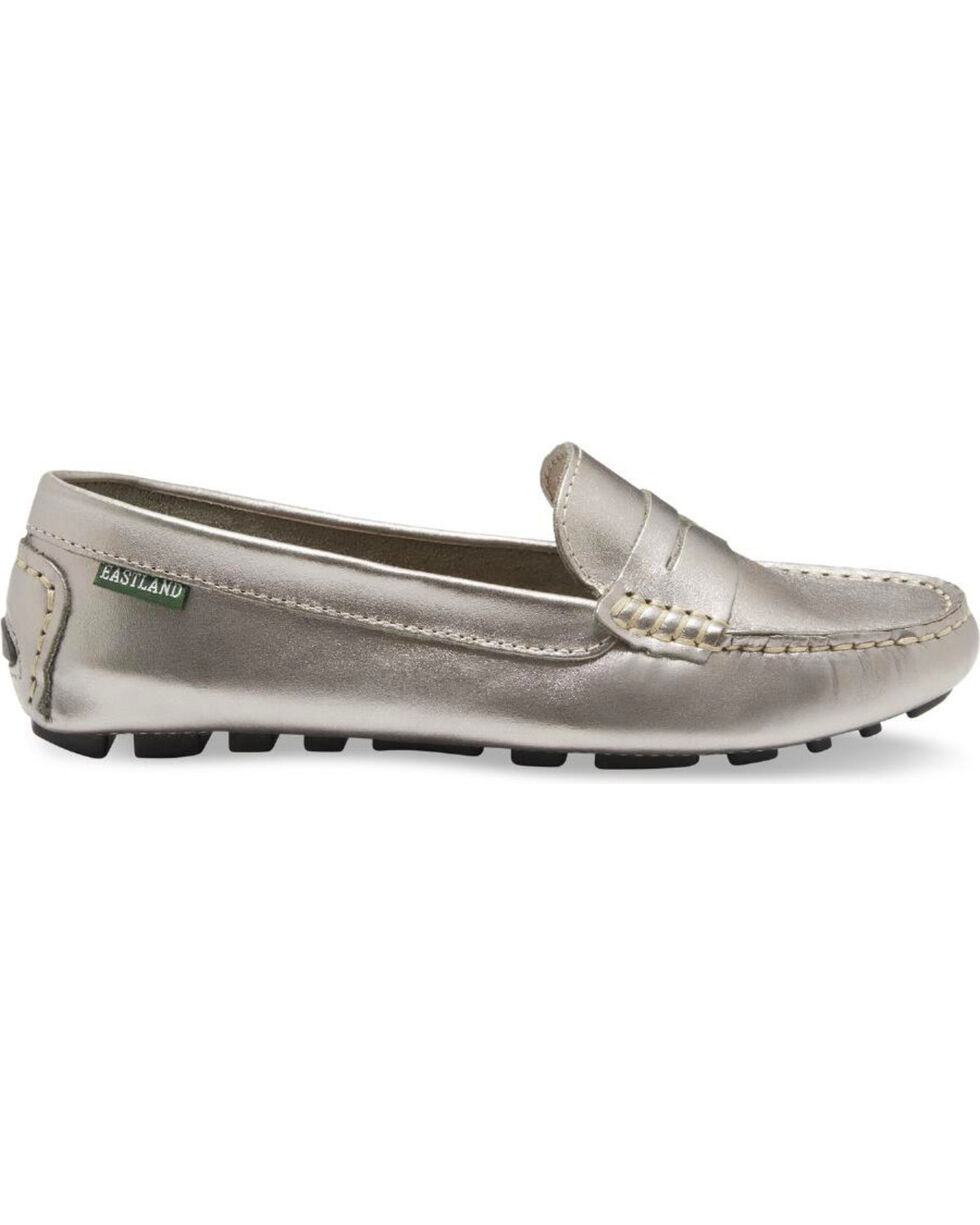 Eastland Women's Silver Patricia Penny Loafers , Steel, hi-res