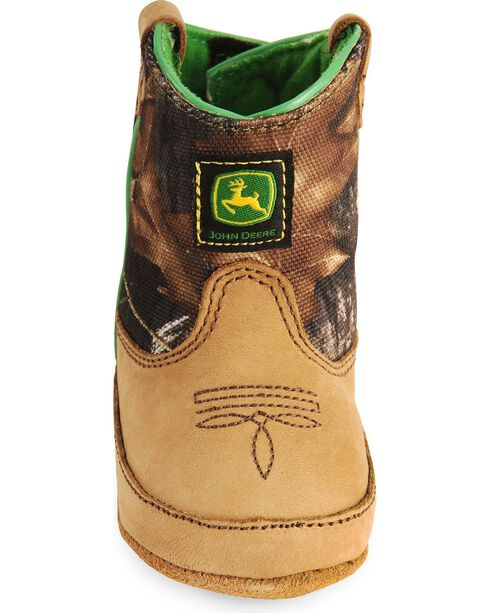 John Deere Infant Boys' Johnny Poppers Camo Crib Bootie, Camouflage, hi-res