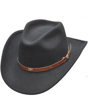 Western Express Men's Black Wool Crush Hat , Black, hi-res