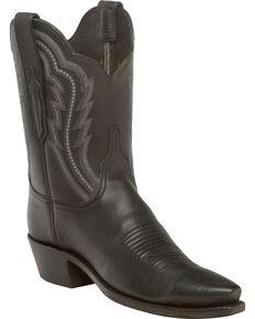 Lucchese Women's Handmade Hattie Black Goat Leather Short Western Boots - Snip Toe, Black, hi-res