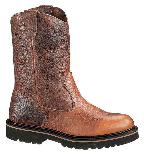 "Wolverine 10"" Wellington Work Boots, Tan, hi-res"