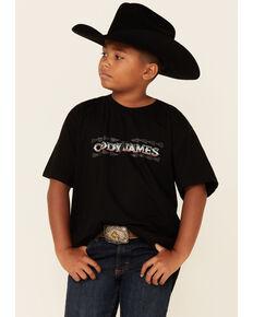 Cody James Boys' Black Aztec Logo Short Sleeve T-Shirt , Black, hi-res