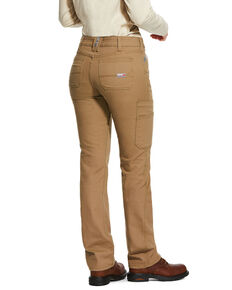 Ariat Women's FR Duralight Stretch Canvas Straight Leg Pants, Beige/khaki, hi-res