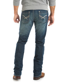 Rock 47 By Wrangler Men's Acoustic Slim Straight Jeans , Blue, hi-res