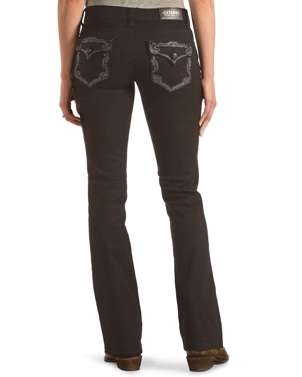 Shyanne Women's Mid-Rise Jeans with Flap Pocket - Boot Cut, Black, hi-res