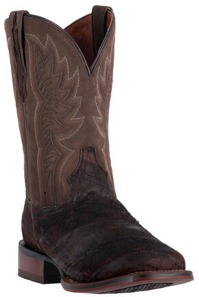 Dan Post Men's Cade Chocolate Brown Cowboy Boots - Square Toe , Chocolate, hi-res