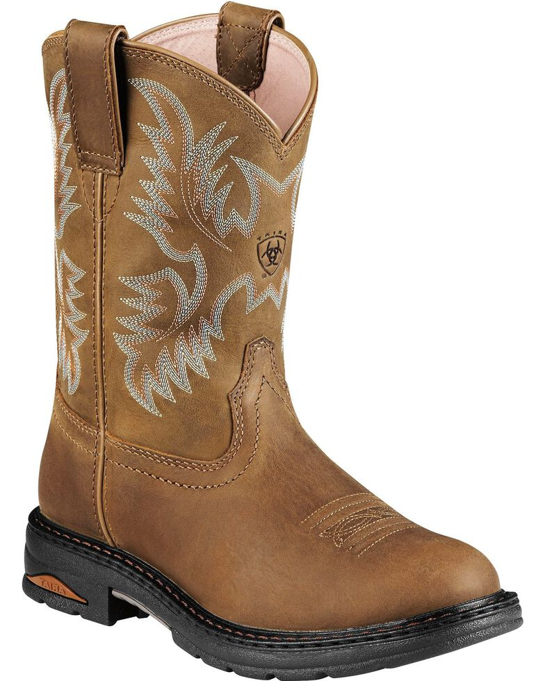 Ariat Tracey Pull-On Work Boots - Composite Toe, Dusty Brn, hi-res