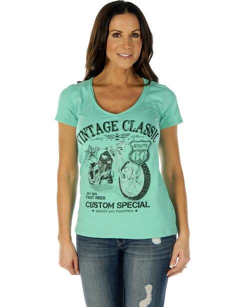 Liberty Wear Women's Vintage Classic Short Sleeve Tee, Lt Green, hi-res