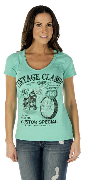 Liberty Wear Women's Vintage Classic Short Sleeve Tee - Plus, Lt Green, hi-res