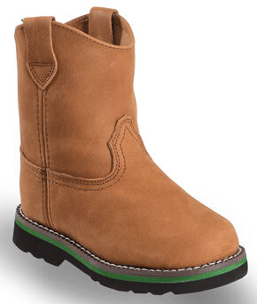 John Deere Toddler Boys' Johnny Popper Roper Western Boots - Round Toe, Brown, hi-res