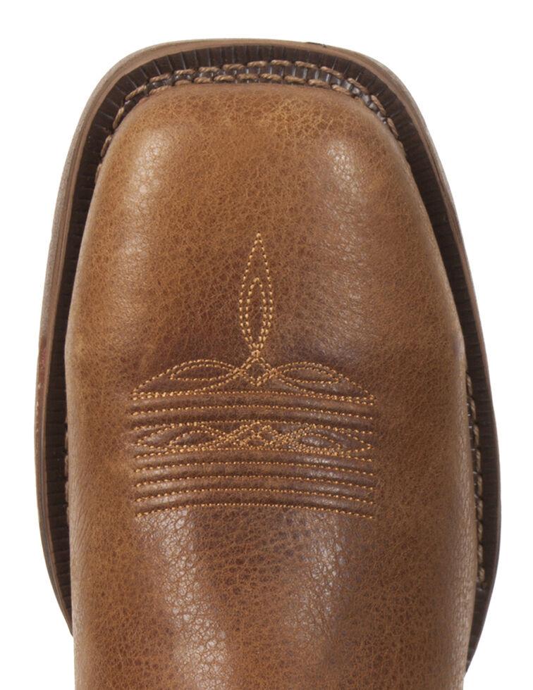 Rocky Long Range Western Work Boots - Safety Toe, Saddle Brown, hi-res