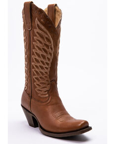 Ariat Women's Monarch Oak Western Boots - Square Toe, Brown, hi-res
