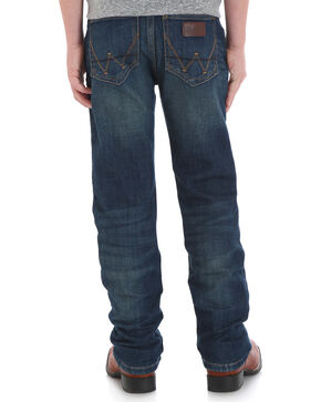 Wrangler Retro Boys' (1-7) Slim Stretch Jeans - Straight, Blue, hi-res