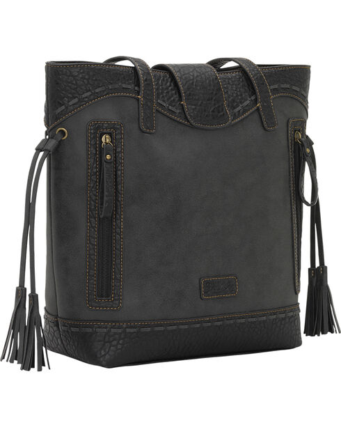Bandana by American West Guns and Roses Collection Zip-Top Bucket Bag, Charcoal Grey, hi-res