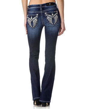 Miss Me Women's Indigo Angel Of Mine Jeans - Boot Cut , Indigo, hi-res