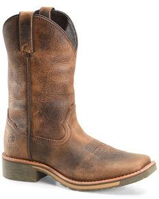 Double H Men's Jadon Western Work Boots - Soft Toe, Brown, hi-res