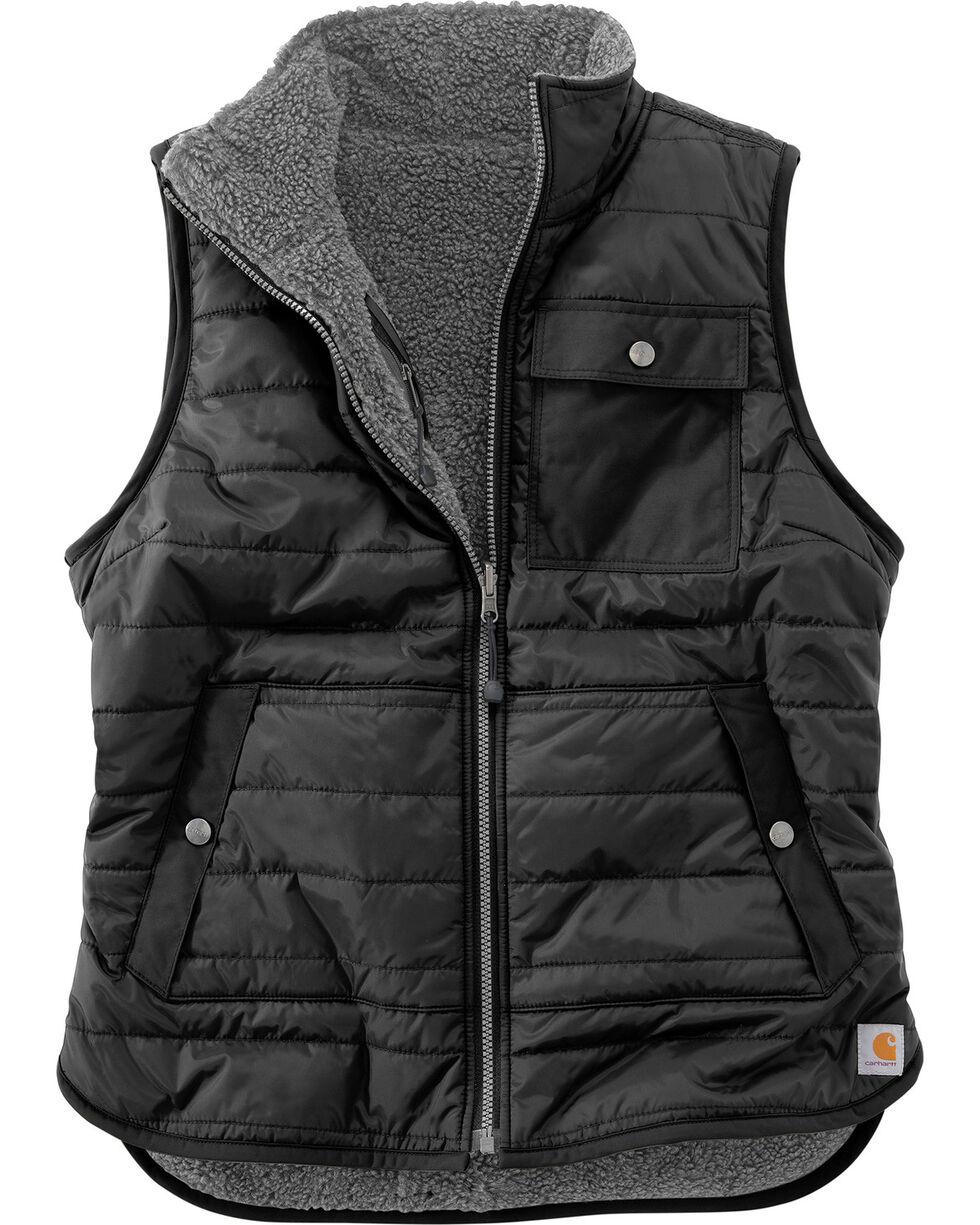 Carhartt Women's Burlwood Amoret Sherpa-Lined Vest , Black, hi-res