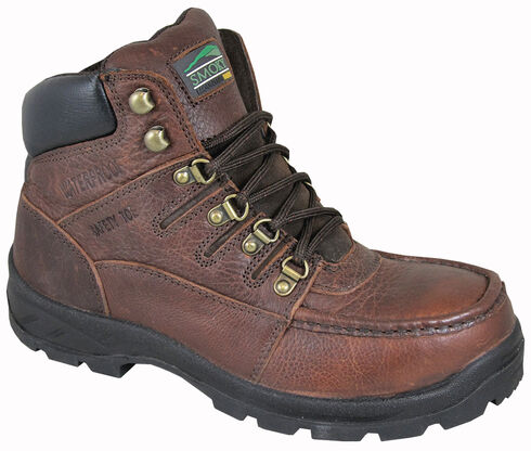 Smoky Mountain Men's Dixon Work Boots - Steel Toe, Brown, hi-res