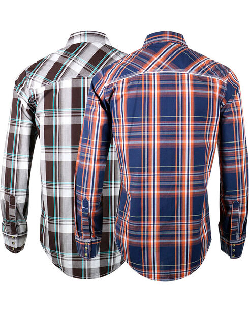 Ely Cattleman Men's Assorted Western Long Sleeve Shirt, Multi, hi-res