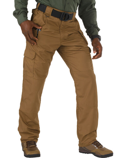 5.11 Taclite Poly/Cotton Ripstop Pants - Sizes 46-54 (Unhemmed), Brown, hi-res