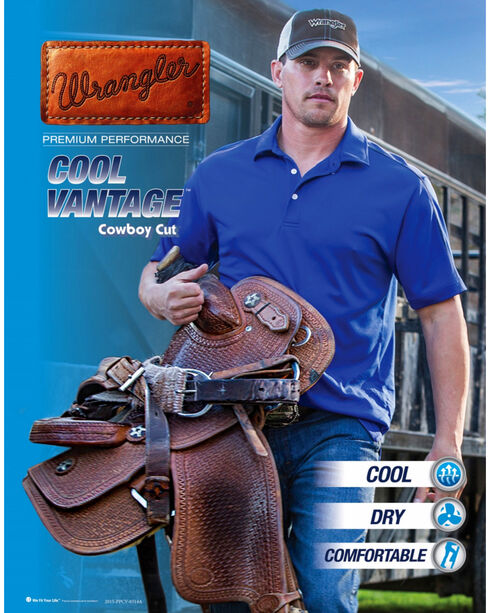 Wrangler Cool Vantage 36 Dark Stonewash Jeans - Slim Fit - Big and Tall, Dark Stone, hi-res