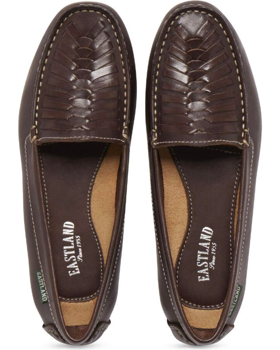 Eastland Women's Brown Debora Woven Flats , Brown, hi-res