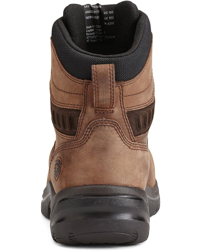 """Ariat Flex Pro 6"""" Lace-Up Distressed Work Boots - Composite Toe, Brown, hi-res"""