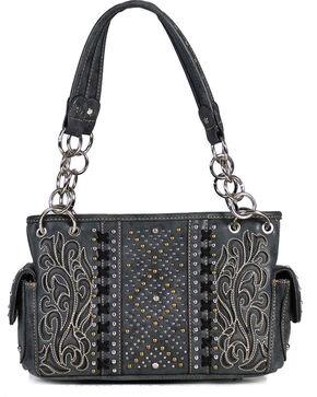 Montana West Women's Black Concealed Carry Satchel Bag , Black, hi-res