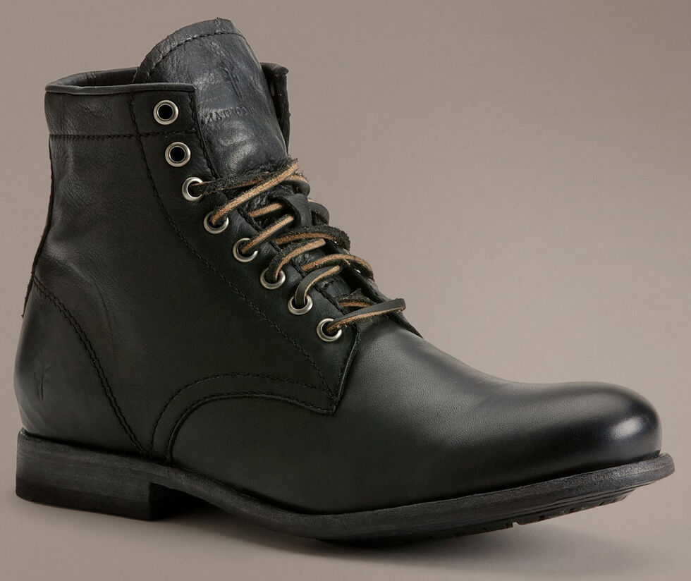 Frye Tyler Lace-Up Boots, Black, hi-res
