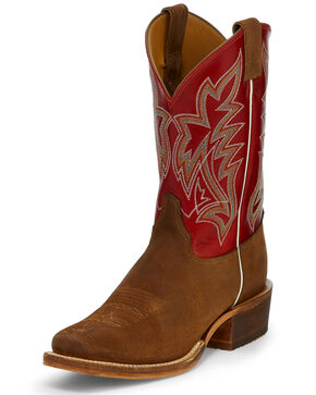 Justin Men's Navigator Western Boots - Square Toe, Brown, hi-res
