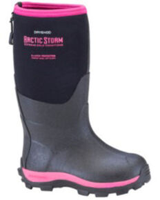Dryshod Girls' Pink Arctic Storm Rubber Boots - Soft Toe, Black, hi-res