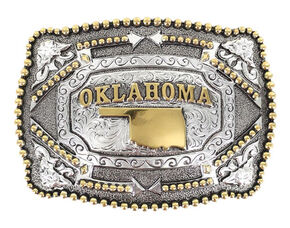 Cody James Oklahoma Belt Buckle, Multi, hi-res