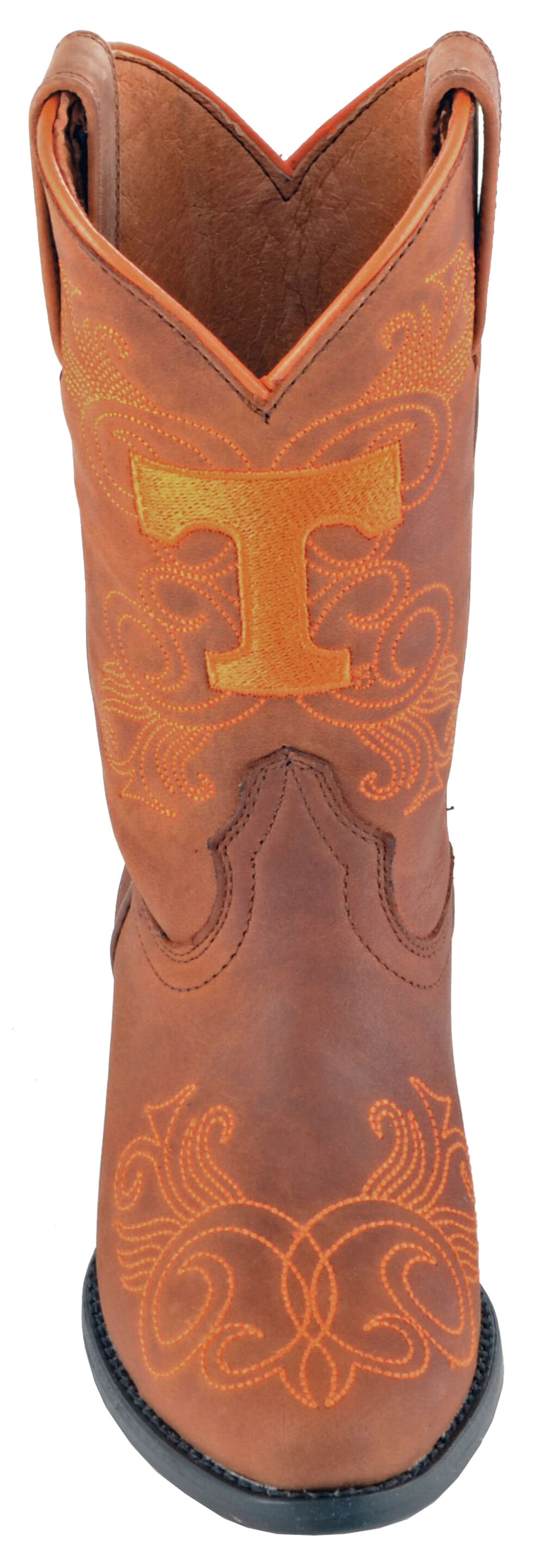 Gameday Boots Girls' University of Tennessee Western Boots - Medium Toe, Honey, hi-res