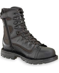 """Thorogood Men's 8"""" GEN-flex2 VGS Tactical Waterproof Side Zip Work Boots, Black, hi-res"""
