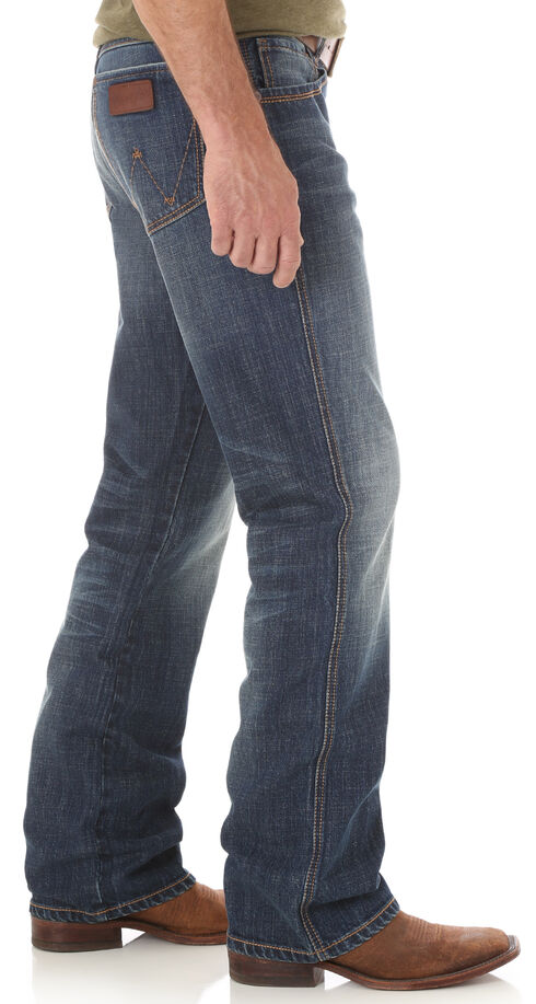 Wrangler Retro Men's Indigo Relaxed Fit Jeans - Boot Cut , Indigo, hi-res