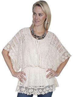 Scully Honey Creek Crochet Top, Natural, hi-res