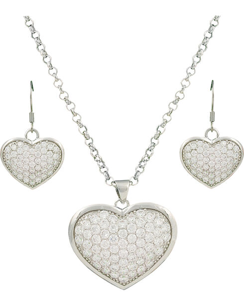 Montana Silversmiths Star Lights, Heart Bright Jewelry Set, Silver, hi-res