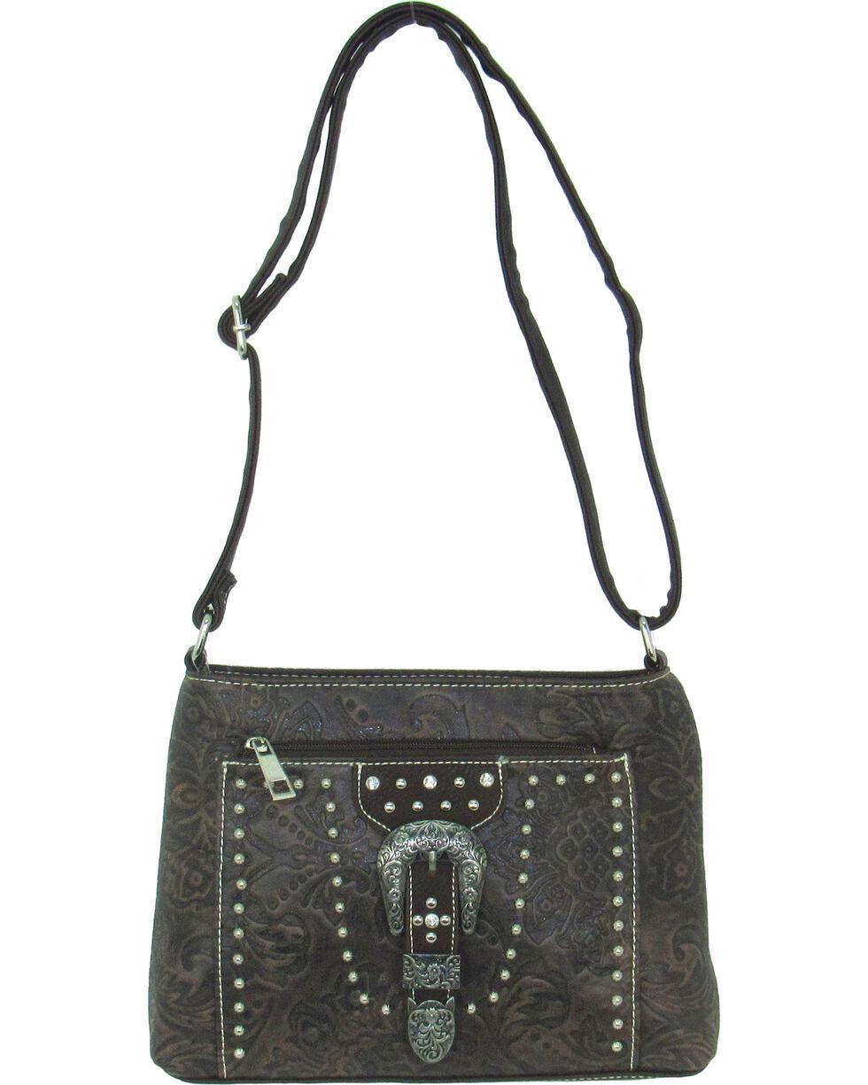 Savana Women's Tooled Embellished Crossbody Bag, , hi-res