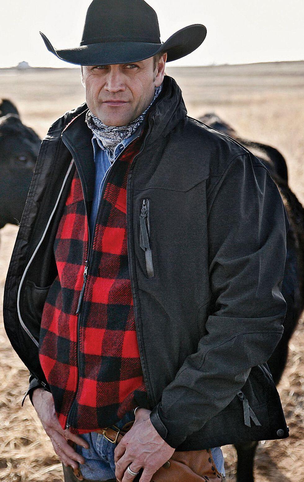 STS Ranchwear Men's Young Gun Black Jacket - Big & Tall - 2XL-3XL, Black, hi-res