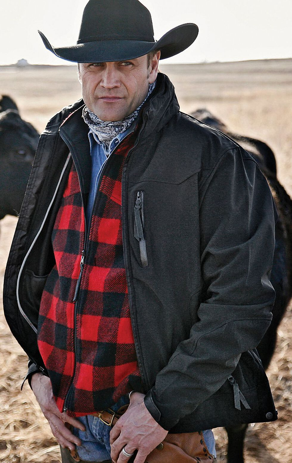STS Ranchwear Men's Young Gun Black Jacket - Big & Tall - 4XL, Black, hi-res