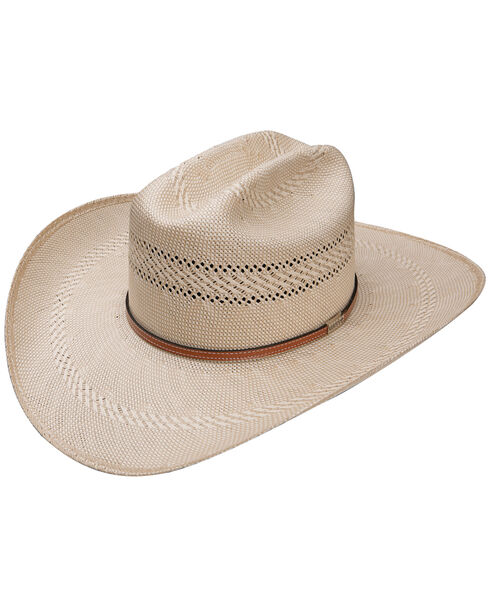 Resistol Men's Natural 50X Open Range Panama Straw Hat , Natural, hi-res