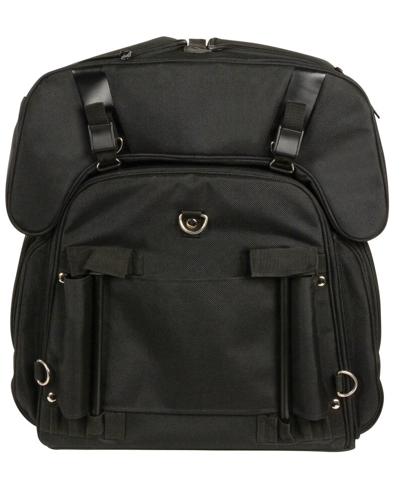 Milwaukee Leather Black Leather Textile Sissy Bag , Black, hi-res